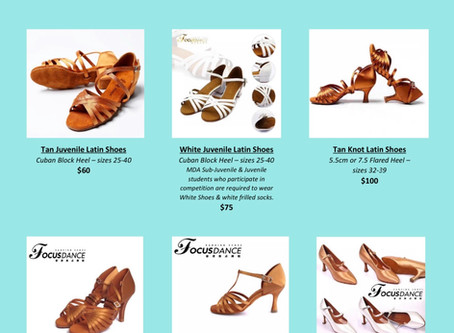 Melbourne Dancesport Academy is now selling Dance Shoes