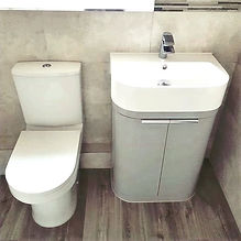 Seperate sink and toilet installation.  Plumbing works completed by LM Plumbing Services