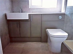 Rhoper rhodes bathroom furniture and walk in shower installed by LM Plumbing Services near Leyland, Lancashire.  Beautiful bathrooms, quality installation and service