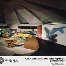 A shot in the dark: Who killed nighttime photography?  Written by Fred Nicolaus Business of Home  Photo by Leland Y. Lee.  - Summary: For decades, interiors were photographed at night. Now, almost never. What happened?