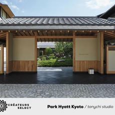 """Park Hyatt Kyoto  tonychi studio  - Inspired by the natural surroundings of the historic Higashiyama Hills, tonychi studio designed the Park Hyatt Kyoto as a modern """"Mountain House"""" interpretation of timeless Kyoto culture.  Pairing traditional Japanese design, architecture, and artisanal craftsmanship with sleek, contemporary curation, the hotel serves to amplify the silence of the mountains and rolling hills that envelop it."""
