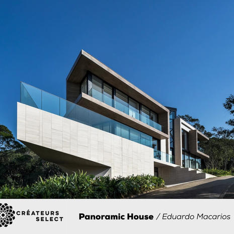 Panoramic House Eduardo Macarios  - The residence was designed by Eliza Schuchovski for a family in search of a new lifestyle in the port city of Itajaí, Brazil. An atmosphere of belonging and identity, a panoramic view of the sea, elements of Brazilianness and an ecofriendly construction were some of the premises of the project.