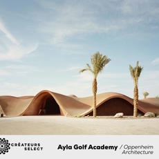 Ayla Golf Academy  Oppenheim Architecture  - The Ayla Golf Academy takes inspiration from the natural dunescapes and mountains of the Jordanian desert and the architectural heritage of the ancient Bedouin. The innovative and organic design of the building forms the iconic core of the Ayla Oasis mixed-use resort development in Aqaba city.