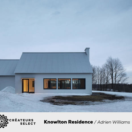 Knowlton Residence Adrien Williams  - The Knowlton Residence is located in the rural Eastern Townships of Quebec, and it was photographed for TBA Architects. The images are made to emphasize the contrast between the rural setting of the traditional A-frame farmhouse, and its modern two storey extension.