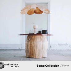 Soma collection / Soma  - It all starts with our brand Georges, 10 years ago. By the desire to create a complete universe, piece by piece, to offer a set of complementary objects, to associate them, accumulate them and move them at will. By the wish too, that this universe responds to two prerogatives. The first consists of working as much as possible independently, with locally sourced materials and very few subcontractors for the creation of our collections; the second being to design this universe around raw objects, with the reveale draw material, with the mineral and vegetable inspiration, with the minimized artisanal know-how and with the most radical and obvious lines possible.