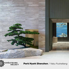 Park Hyatt Shenzhen  Yabu Pushelberg  - Park Hyatt Shenzhen represents an elegant and urban oasis of culture, artistry and intimate experience. Situated in the heart and central business district of southern China, the hotel stands on the ground of a formerly sleepy fishing town.  Yabu Pushelberg took a narrative based approach to design the project, crafting and creating for a story following a poet who's left his hometown village for a global journey, collecting inspired items from his adventures and bringing them back home.