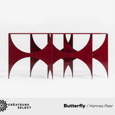 Butterfly Hannes Peer for SEM  - The Paesaggio collection was born from the collaboration with the designer Hannes Peer and SEM - Spotti Edizioni Milano.The Butterfly console is part of this collection, it has a complex, organic configuration with new shapes, in which architecture, engineering and design meet. CONSOLE 'BUTTERFLY'  A console like a bridge. Homage to the structure of the Basento bridge, designed by the Italian engineer Sergio Musmeci in 1967 concretizing the theories on the structural minimum of the designer, according to which it was necessary to outline a single solution with a mathematical formula of a static nature to be sure of the best use, that is the minimum weight, of a given structure. Butterfly, like Musmeci's bridge, has a complex, organic structure, with unusual shapes, it creates harmony between architecture, engineering and design, its modernity is represented by the outcome of a creative approach that extracts its expressive abilities from the structure, providing a complete, clear and fascinating information on the functions to which it responds.