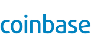 In diesern Bild sieht man das Logo der Krypto Exchnage Plattform Coinbase.