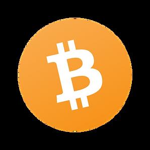 Auf diesem Bild ist das orangene Bitcoin Symbol dargestellt.