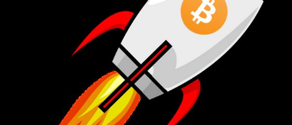 Bitcoin Rakete orange