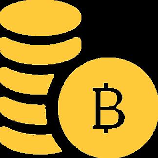 Auf diesem Bild ist ein Haufen voller goldenner Bitcoin Münzen zu sehen.