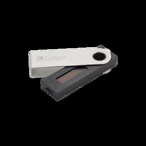 Hier eknnHt man ein Hradware Wallet der Mark Ledger Nano S.