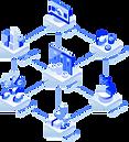 Technische Darstellung einer dezentralenOrganisation