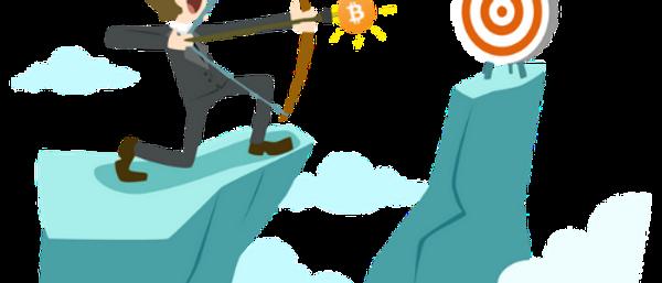 Bitcoin auf Zielscheibe