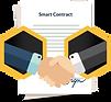 Dieses Bild zeigt einen Vereinbarung, wie bei einem Smart Contract.