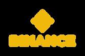 Dieses Bild zeigt das Logo der Kryto Exchange Plattform Binance. Die Schrift ist gelb.