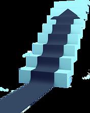 HIer ist eine Treppe zu sehen, die durch einen Pfeil nach oben belegt ist.