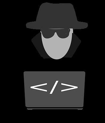Man sieht deutlich einen schwarz gekleideten mit Hut. Er sieht wie ein Betrüger aus.