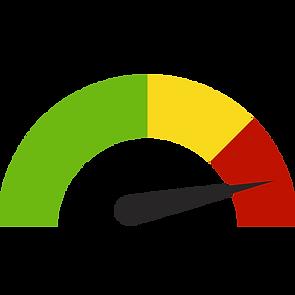 Hier sieht man eine Skala zwischen rot und grün.
