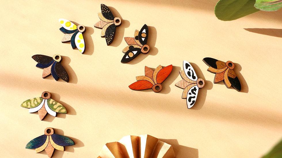 Collier Papillon de bois