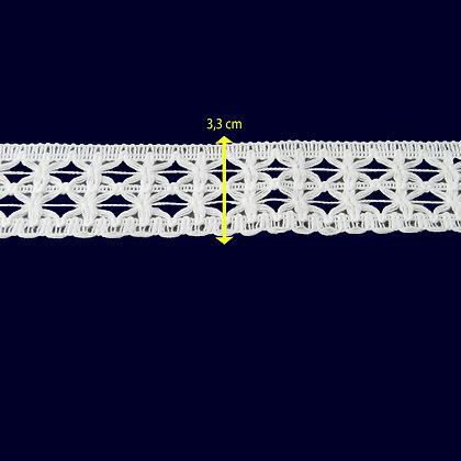 DXR120 - Entremeio 3,3 cm 100% algodão
