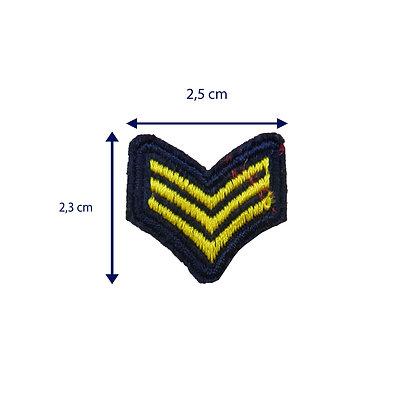 DXT272 -Patche termocolante - Mini militar dourado