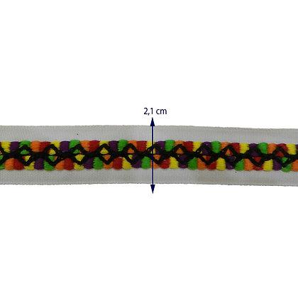GLX69 - Galão com 2,1 cm colorido