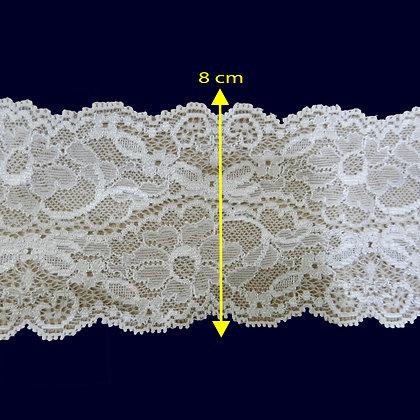 DXR973 - Renda com elastano 8 cm