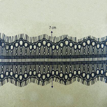 DXY123 - Renda Chantilly 7 cm