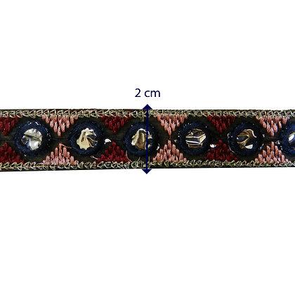 GLX72 - Galão 2 cm com detalhes espelhados.