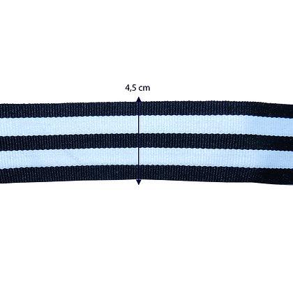 Gorgurão 4 listras - 4,5 cm