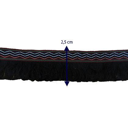 GLX48 - Galão com 2,5 cm com franjas