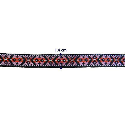 GLX74 - Galão 1,4 cm rosa e vermelho