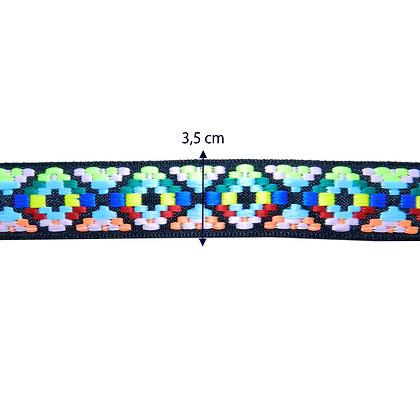 Fita bordada neon - 3,5 cm