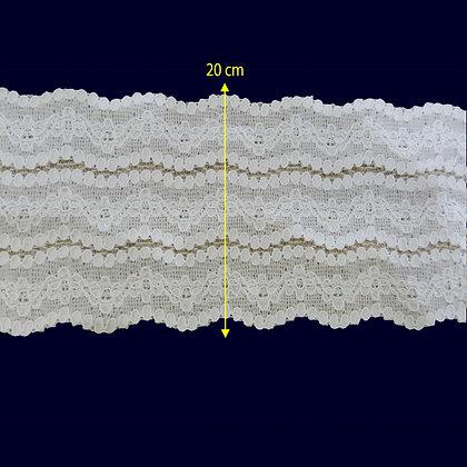 DXR972 - Renda com elastano 20 cm