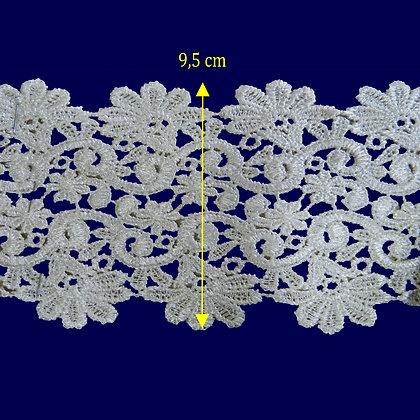 DXR553 - Entremeio 9,5 cm 100% poliéster