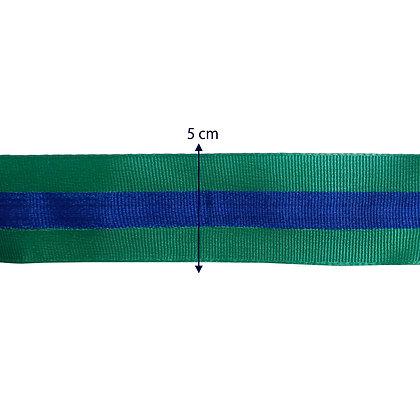 Gorgurão 5 cm - Azul e verde
