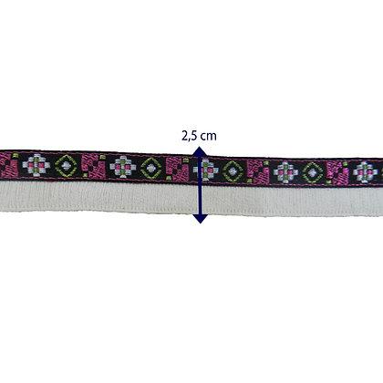 GLX50 - Galão 2,5 cm com franjas