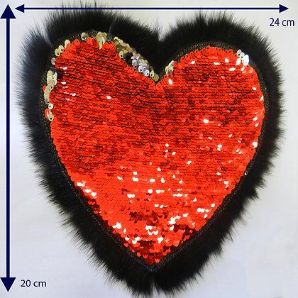 DXA20 - Aplicação de coração com paetê