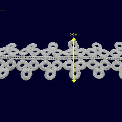 DXR589 - Entremeio 6 cm 100% poliéster