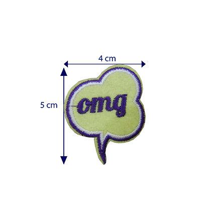 DXT219 - Patche termocolante - Balão OMG