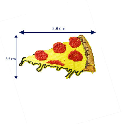 DXT44 - Patche termocolante - Pedaço de pizza