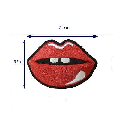 DXT110 - Patche termocolante - Boca com dente