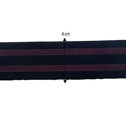 DXES14 - Elástico roxo com preto - 4 cm