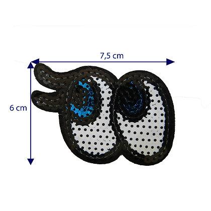 DXT149 - Patche termocolante - Olhos com cílios