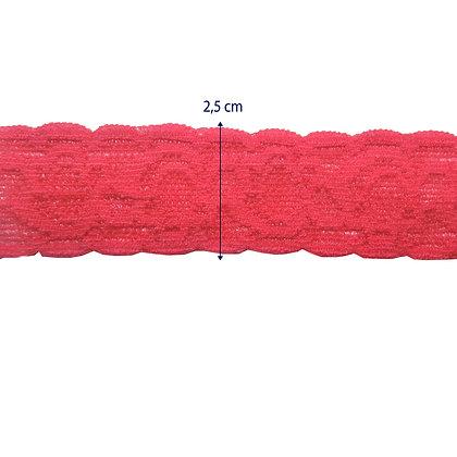 DXR956 - Renda com elastano 2,5 cm