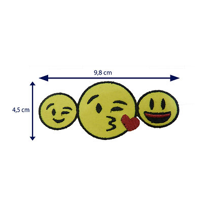 DXT112 - Patch termocolante -Trio de emojis
