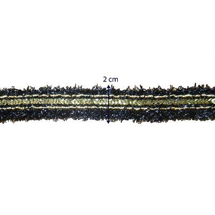 GLX56 - Galão com detalhes brilhantes - 2 cm