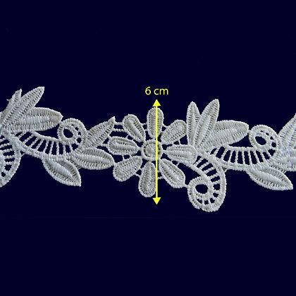 DXR852 - Entremeio 6 cm 100% poliéster