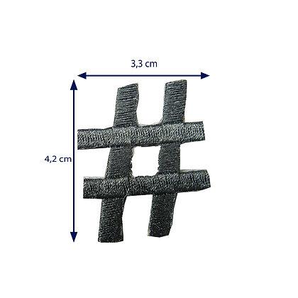 DXT109 - Patche termocolante - Hashtag